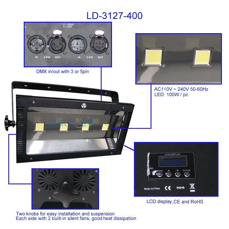 LED Blinder Light CW/WW 4X100W(图1)