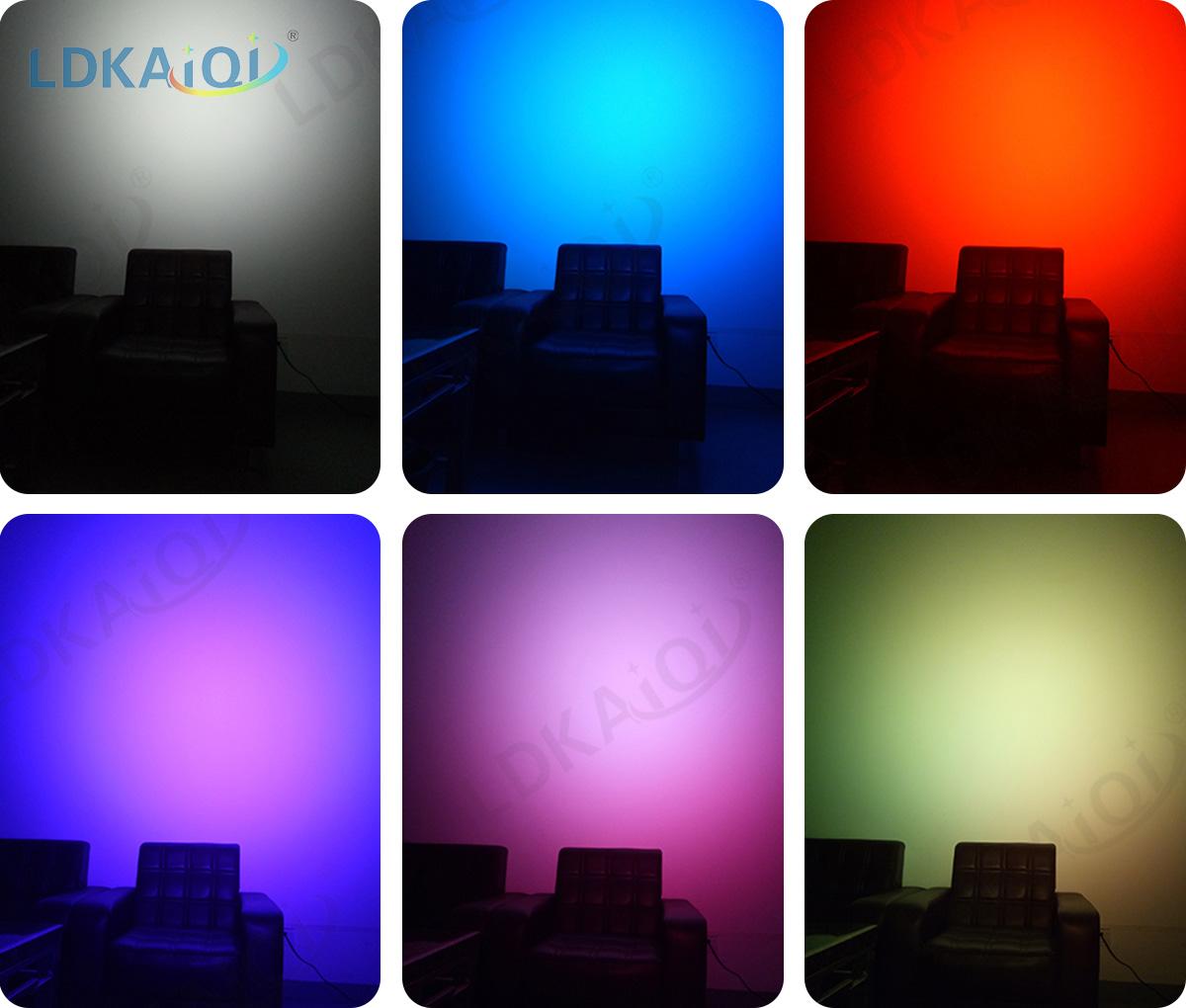 led waterproof battery wireless par light 9X10W 4in1/5in1/6in1(图3)