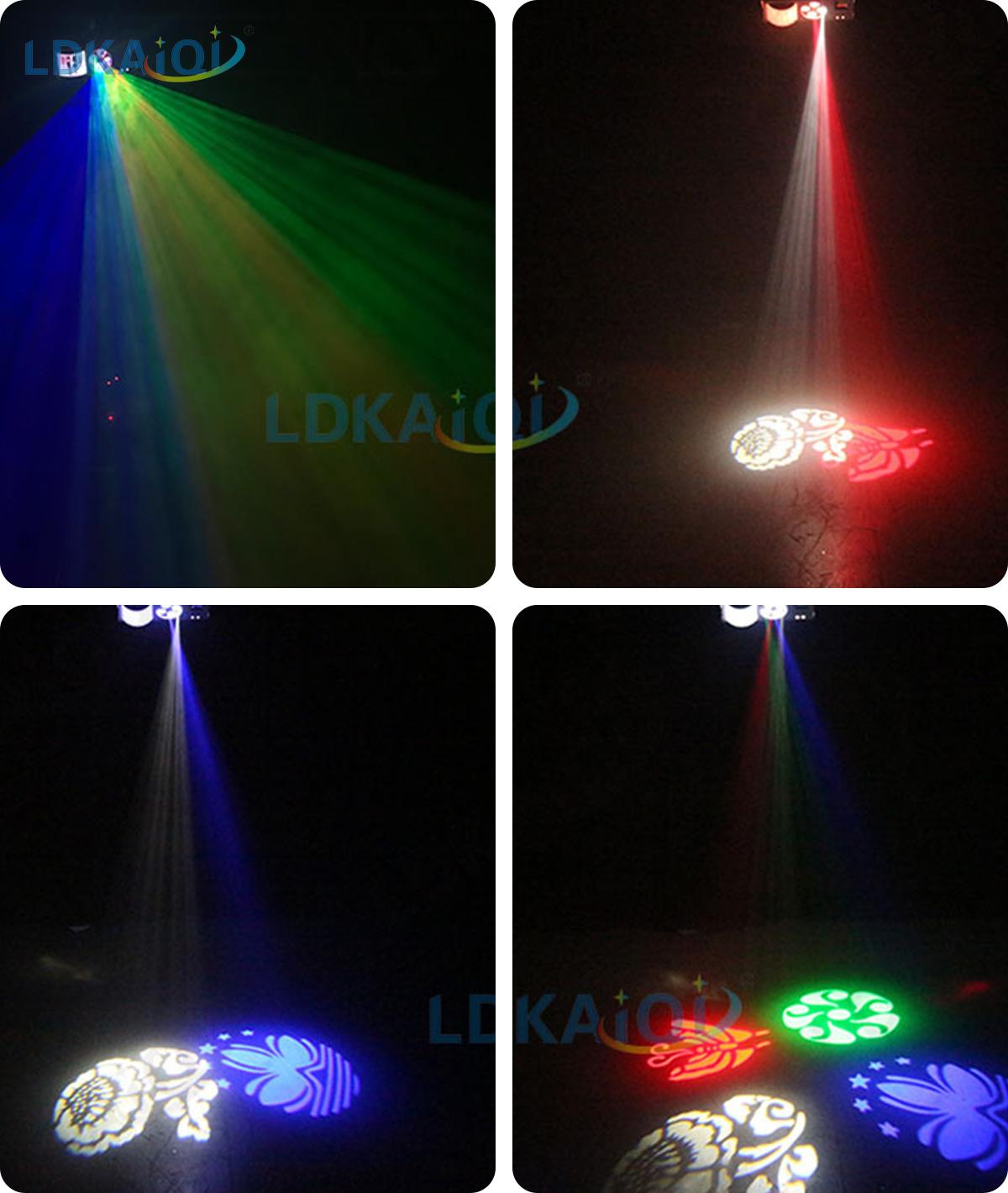 Led & Laser & Strobe &Gobos Lights 4in1 Effect Party Strobe Light(图1)
