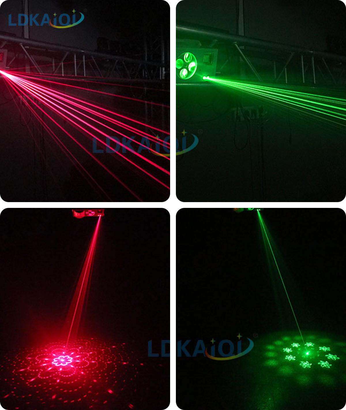 Led & Laser & Strobe &Gobos Lights 4in1 Effect Party Strobe Light(图4)