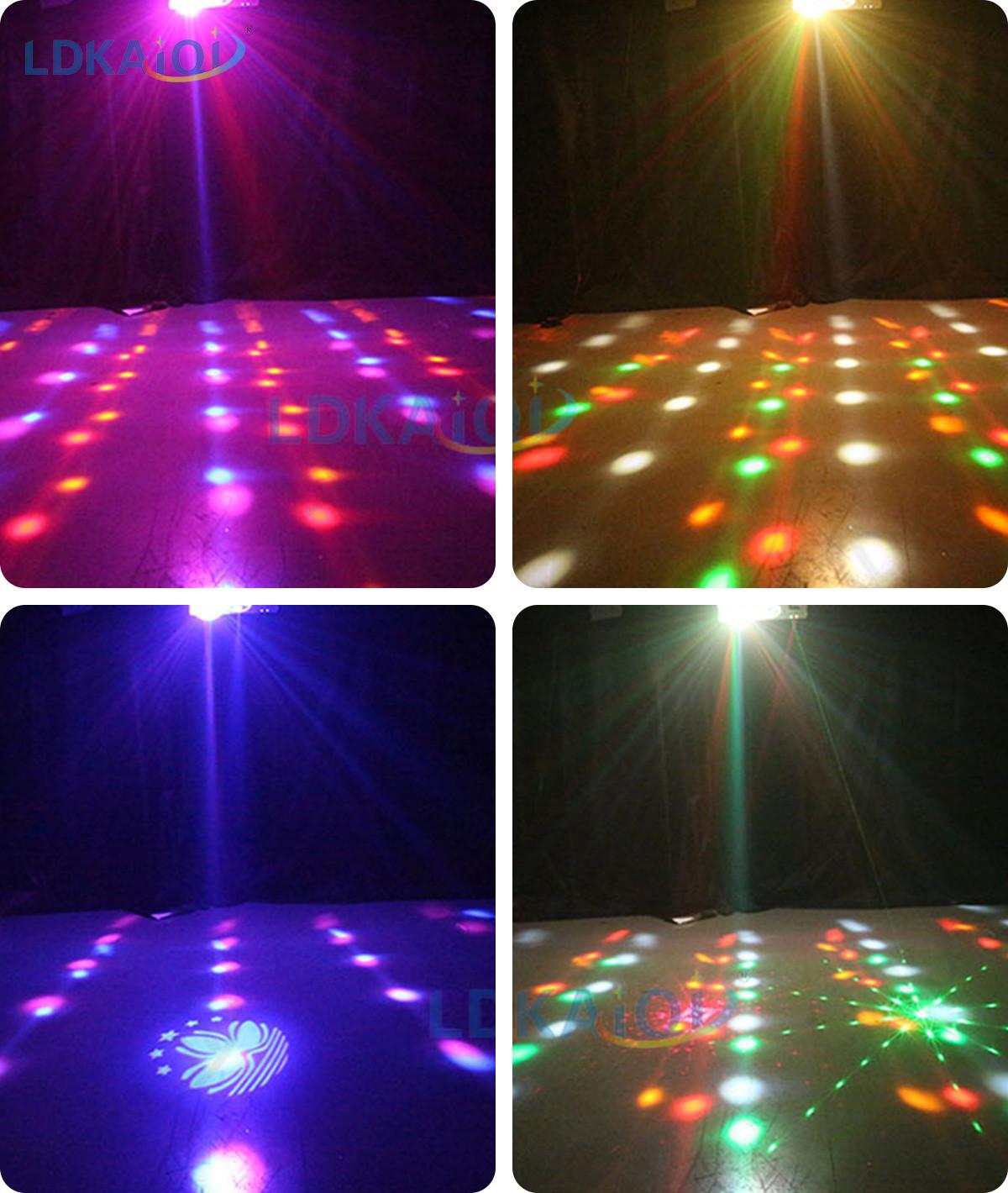 Led & Laser & Strobe &Gobos Lights 4in1 Effect Party Strobe Light(图3)