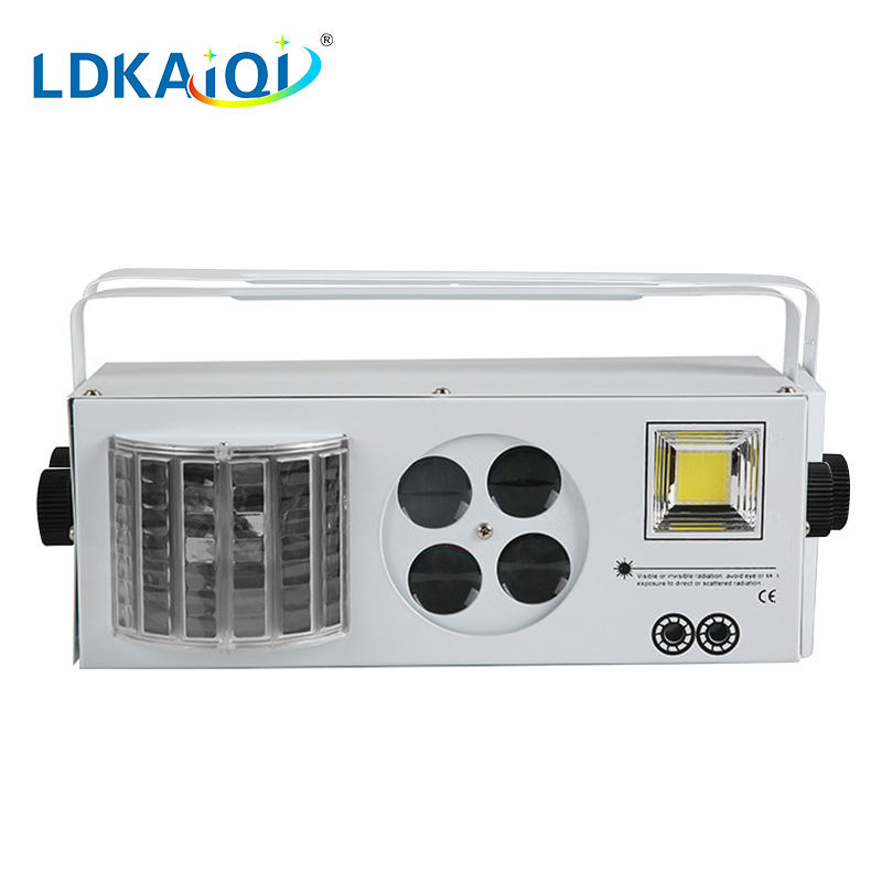 Led & Laser & Strobe &Gobos Lights 4in1 Effect Party Strobe Light
