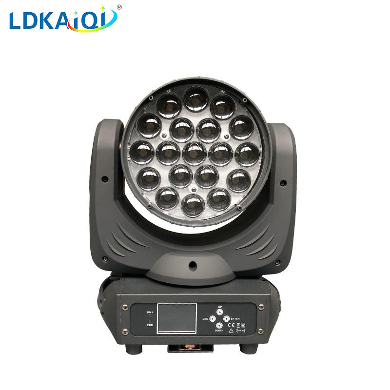 Led Zoom Wash Led Moving Head Light 19X12W RGBW 4in1