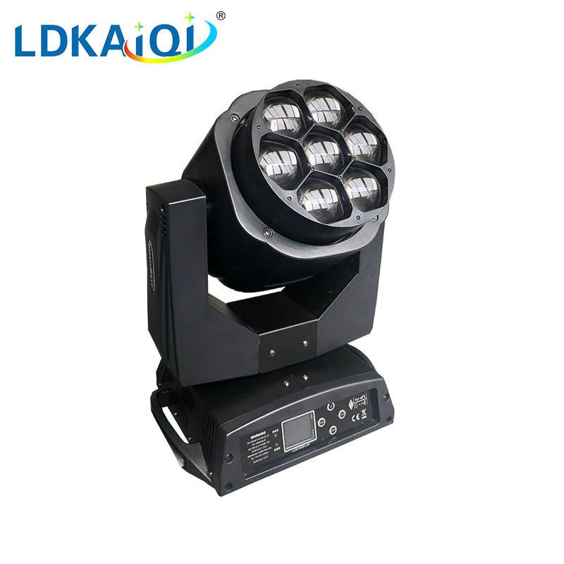 Led zoom Bee eyes moving head light 7X15W RGBW 4in1