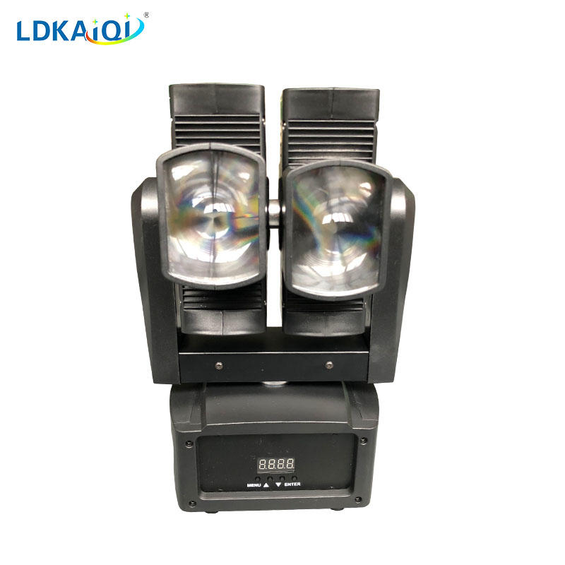 Dual Led beam moving head light 8X10W RGBW 4in1